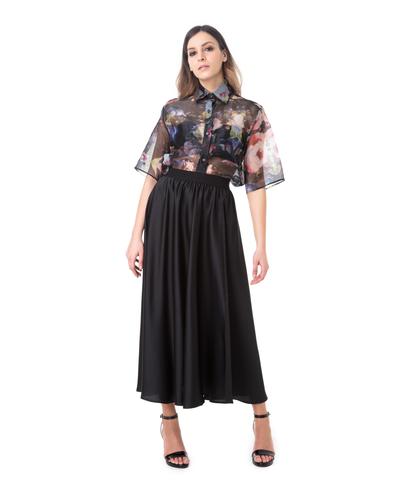 Camicia sheer fiorata, Abbigliamento, 09H9T0021TSFIOR40, 001