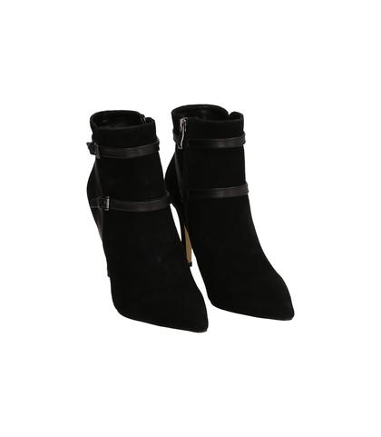 Ankle boots neri in camoscio , Valerio 1966, 1095T0035CMNERO035, 002