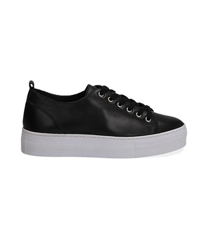 Sneakers nere in pelle, Valerio 1966, 1577T0412PENERO035, 001