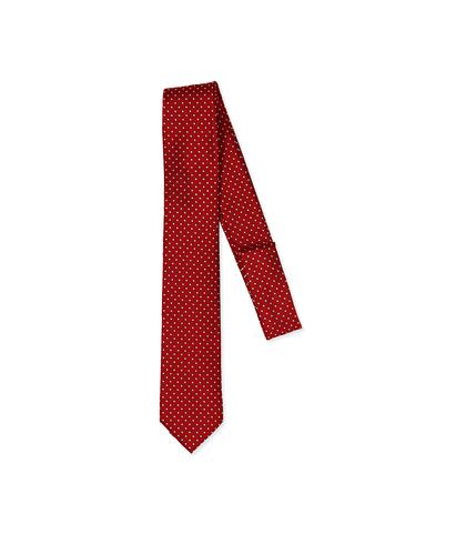 Cravatta rossa in seta , Accessori, 11I9T0008TSROSSUNI, 001