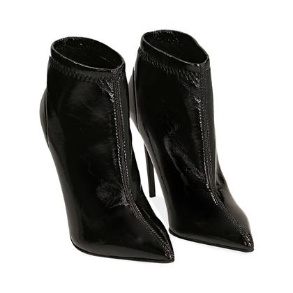 Ankle boots neri in naplak, Scarpe, 1287T4368NPNERO035, 002