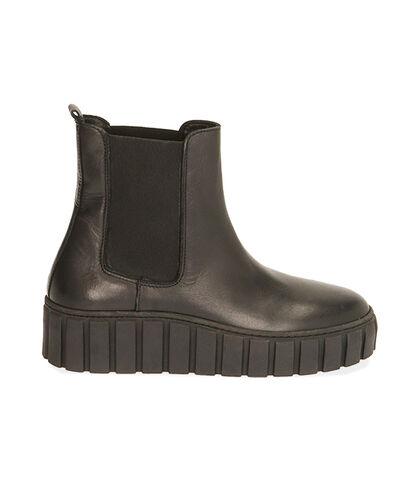 Chelsea boots neri in pelle, tacco 5 cm, Valerio 1966, 18L6T2063PENERO035, 001
