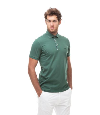Polo verde in cotone piquet , Valerio 1966, 13I5T0129TSVERD46, 001