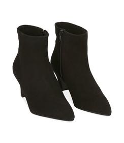 Ankle boots neri in camoscio con tacco a rocchetto, Scarpe, 1272T0154CMNERO036, 002 preview