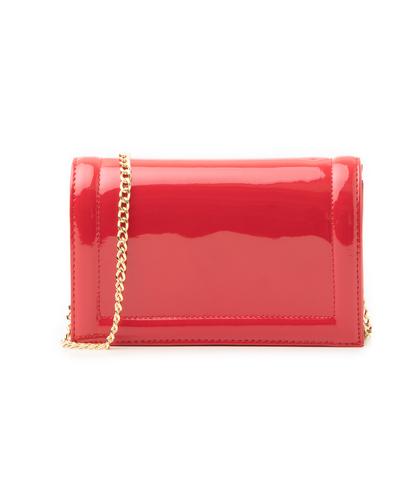 Pochette rossa in vernice, Borse, 1166T6452VEROSSUNI, 001