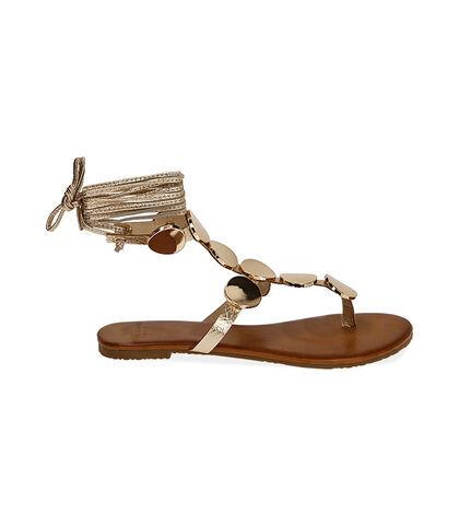 Sandali oro laminato , Valerio 1966, 1749T8281LMOROG035, 001