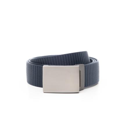 Cintura blu in tessuto intrecciato con fibbia a placca, Accessori, 11F8T0101NYBLUEUNI, 001