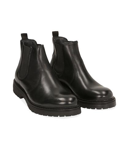 Chelsea boots neri in pelle di vitello , Scarpe, 1277T9908VINERO039, 002