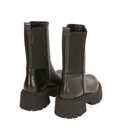 Ankle boots neri in pelle, tacco 5,5 cm , Valerio 1966, 1872T4401PENERO035, 004 preview