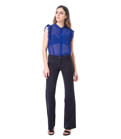 Pantaloni flared blu, 11F8T2630TSBLUE40, 001