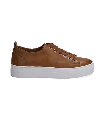 Sneakers cuoio in pelle, Valerio 1966, 1577T0412PECUOI035, 001