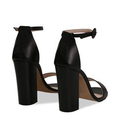 Sandali neri in pelle, tacco a colonna 10,50 cm, Valerio 1966, 13D6T0707VINERO036, 004 preview
