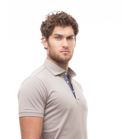 Polo taupe in jersey, Valerio 1966, 13I5T0130TSTAUP46, 002