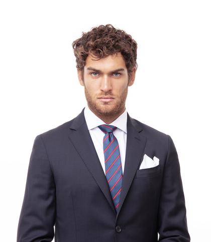 Cravatta blu/rossa in seta, Accessori, 11I9T0001TSBLROUNI, 002