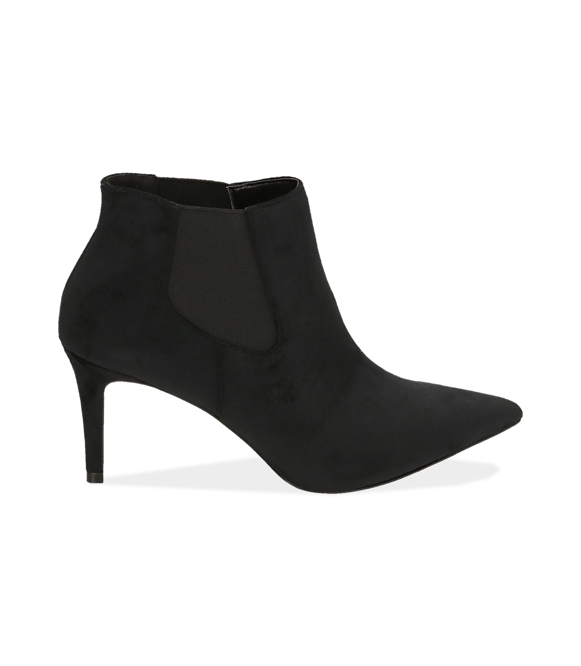 Ankle boots neri in velluto