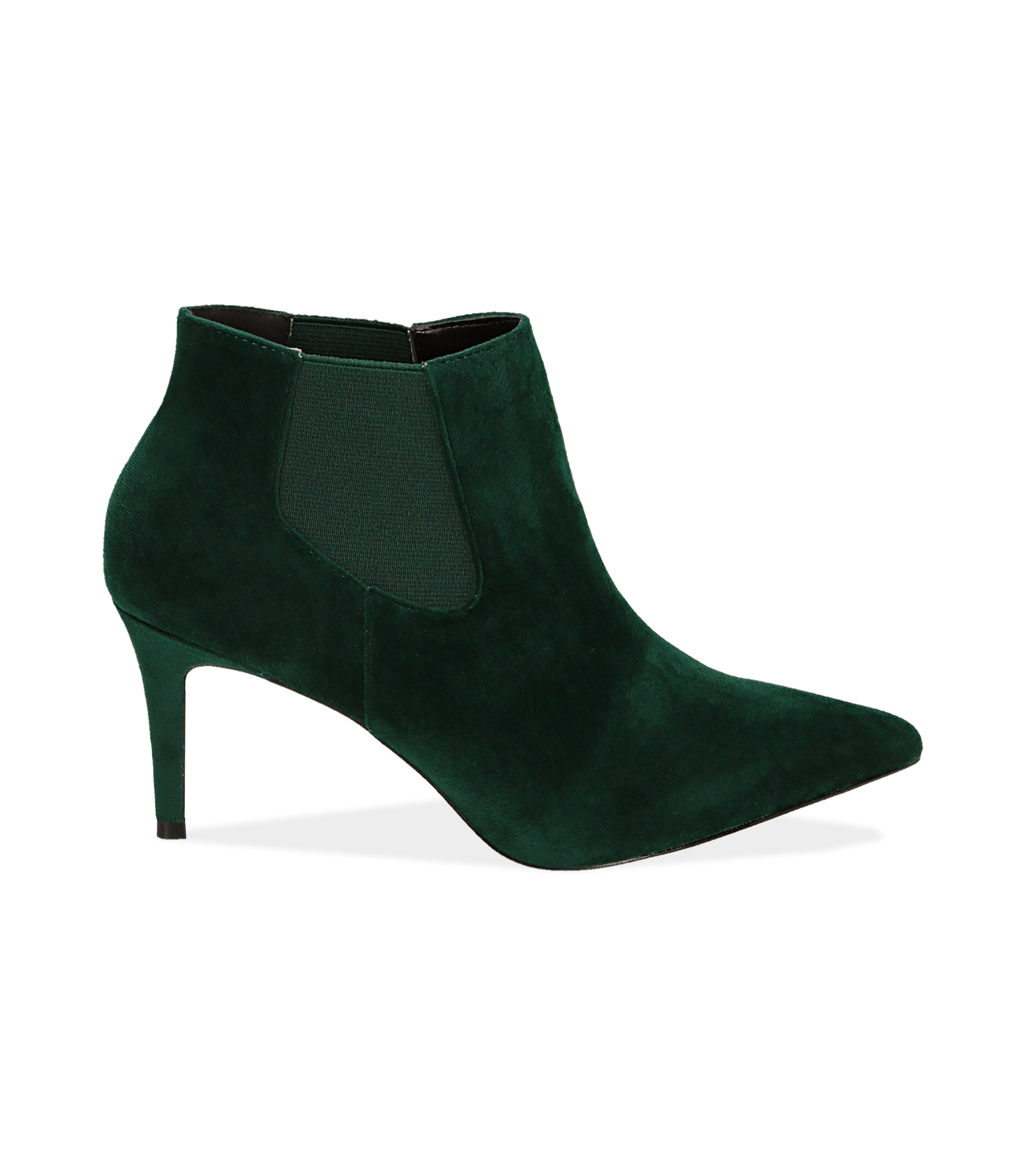 Ankle boots verdi in velluto