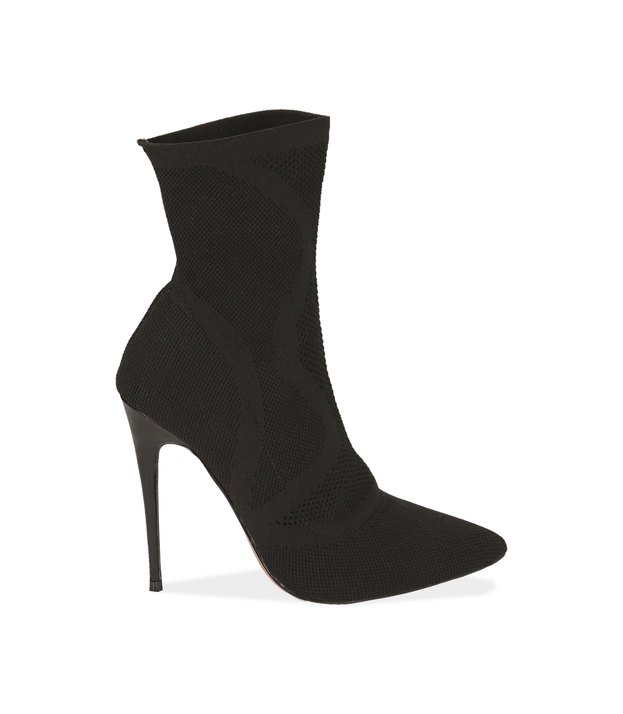 Ankle boots neri in tessuto elastico