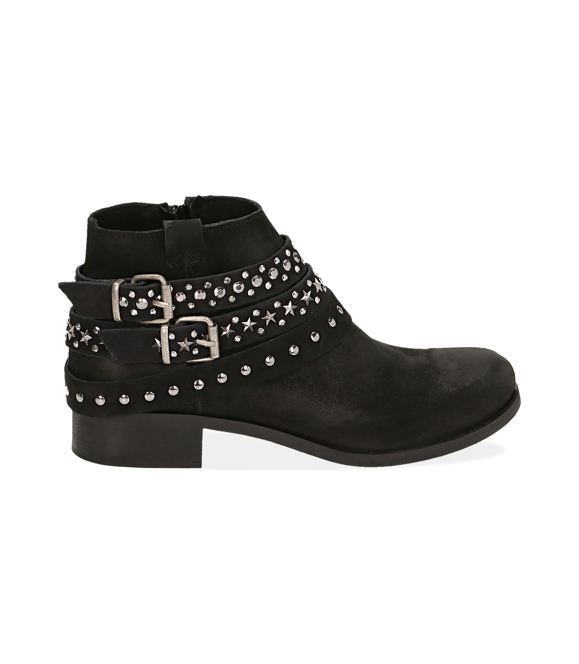 Ankle boots neri in nabuk