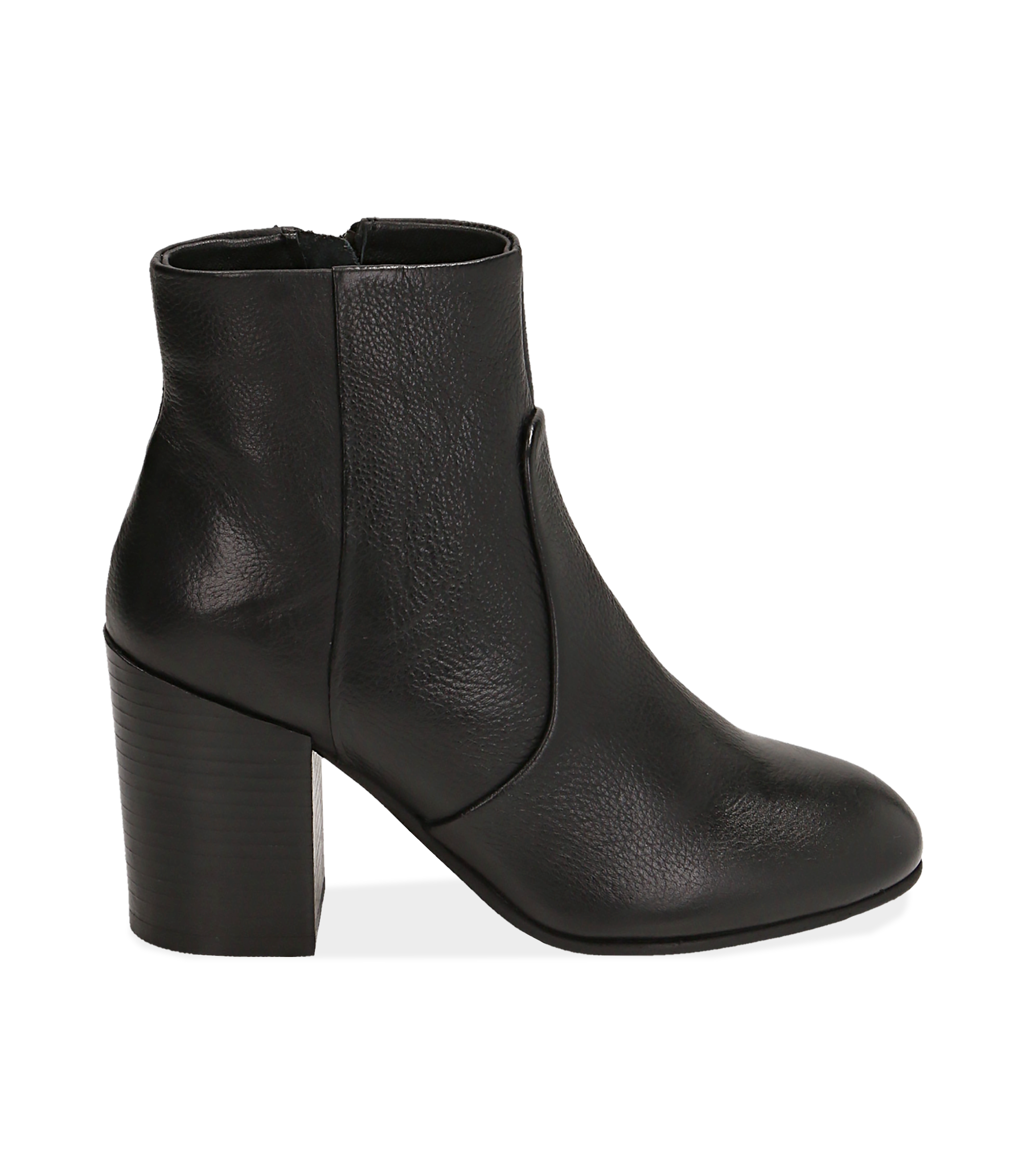 Ankle boots neri in pelle