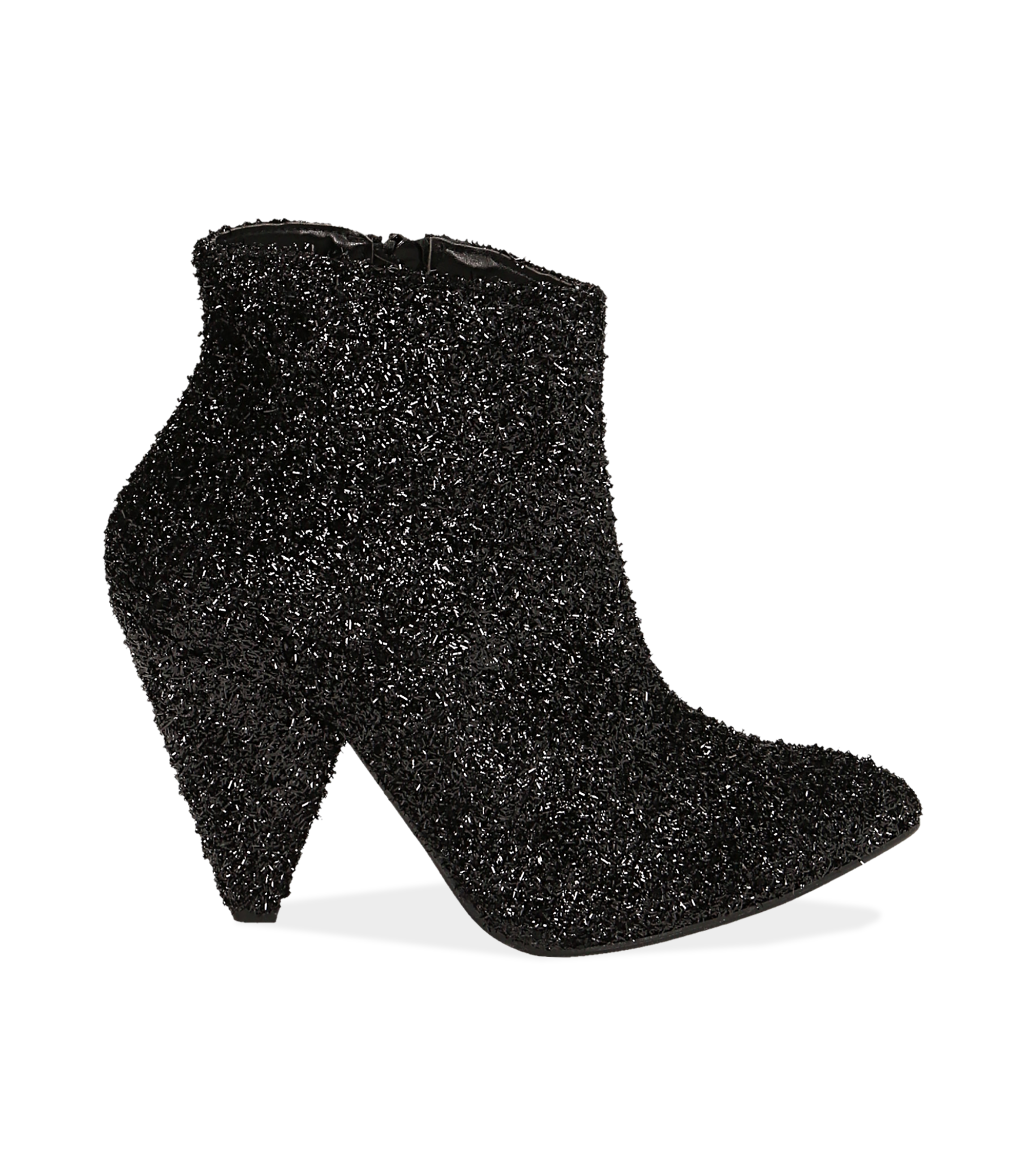 Ankle boots neri glitter