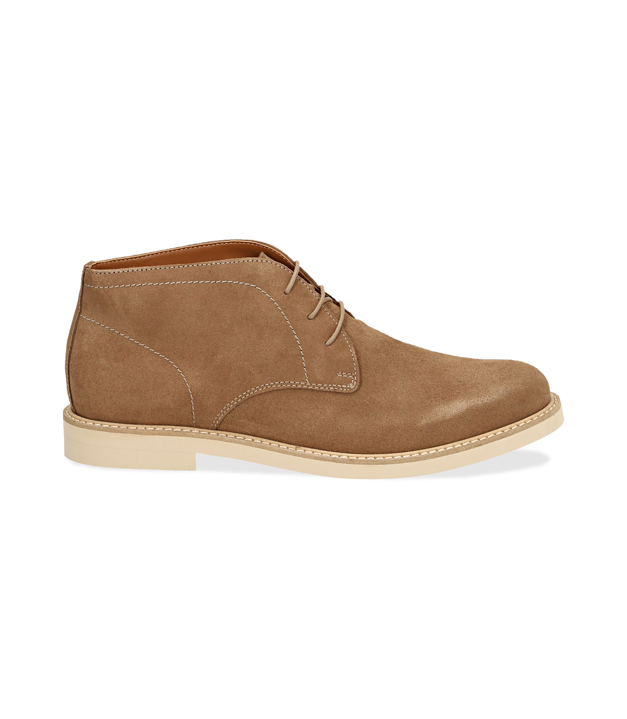 Desert boots taupe in camoscio